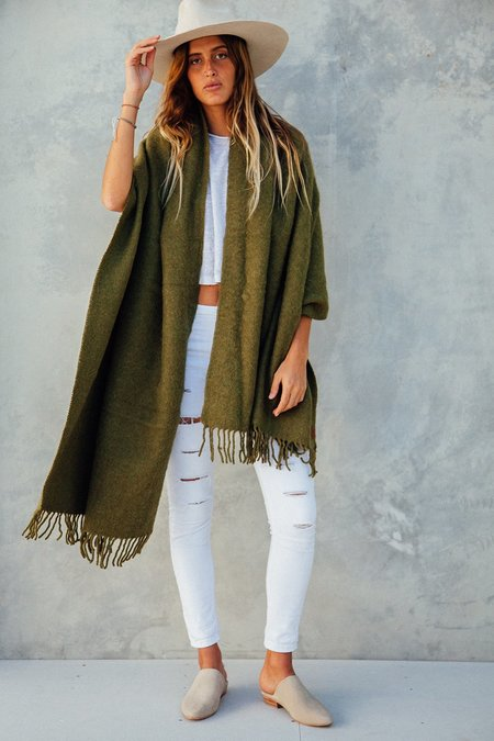 Pampa Puna OversizedScarf  - Moss