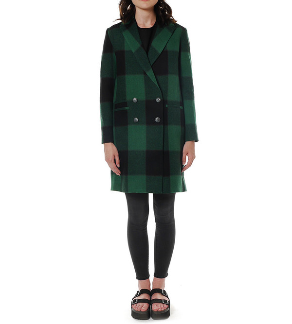 Sea NY Plaid Overcoat