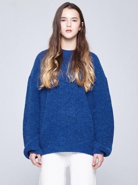 Unisex INDIGO CHILDREN Oversized Alpaca Knit - Indigo Blue