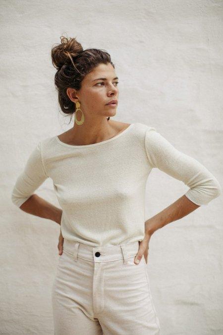 Ozma Silk Noil Knit Ballet Top - Ivory