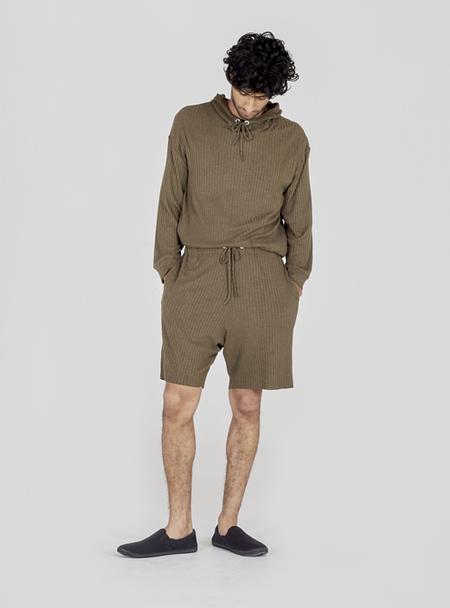 I AND ME Ribbed Shorts - Khaki