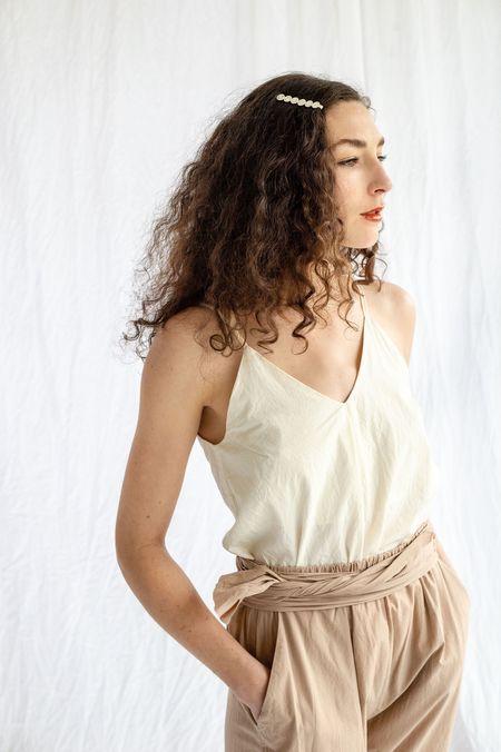 Saskia Diez Paillettes Hair Clip - Silver Plated