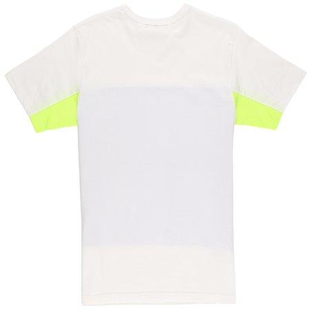 Aloye Color Blocks T-Shirt - White/Blue Stripe/Yellow