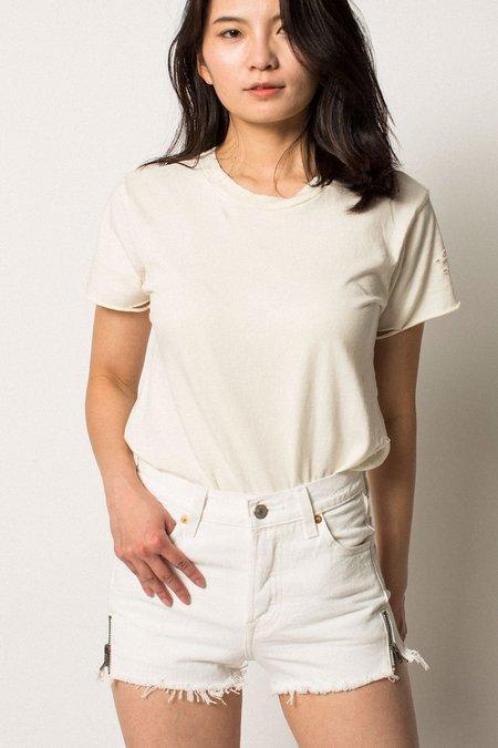 Levi's 501 Altered Zip Shorts - White