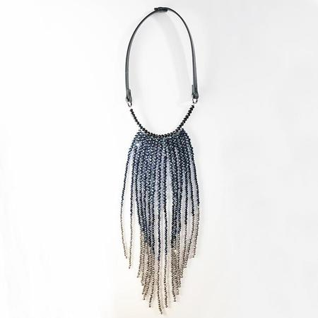 Peserico DC Beads Necklace - Blue/Silver Ombre