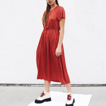 Stine Goya Caitlin Dress - Red Polka Dot