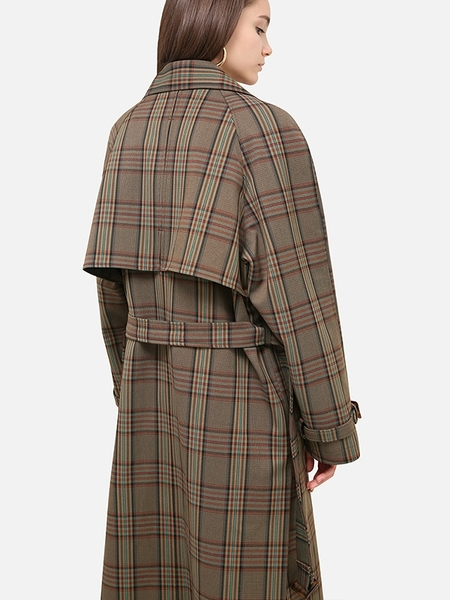 HAVE LESS Overfit Check Trench Coat
