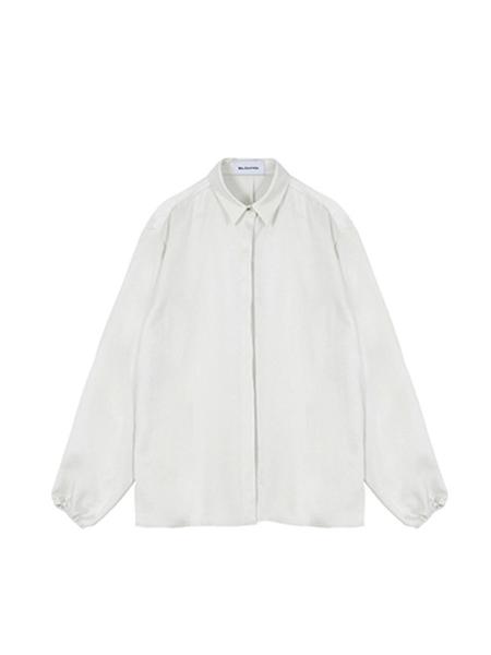 MA JOURNEE Satin Stitch Blouse - White