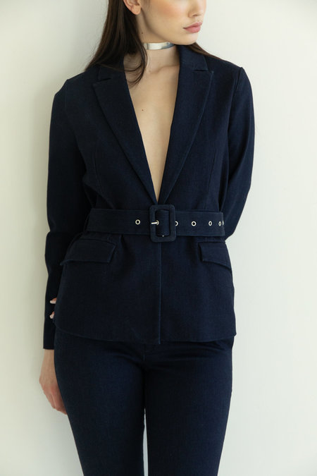 Just Female Antonino Blazer - Dark Blue Denim