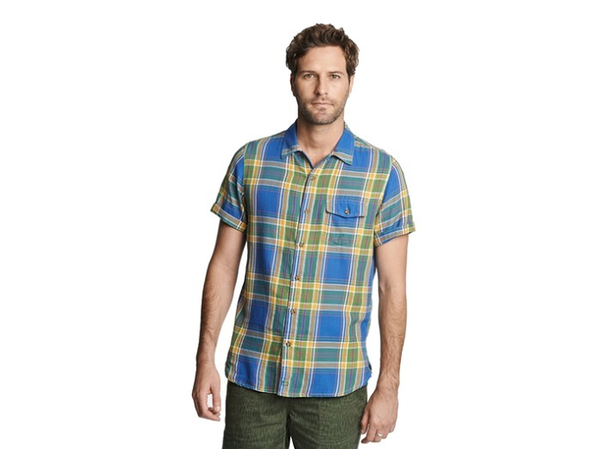 Men's WOOLRICH Dobby Plaid Shirt