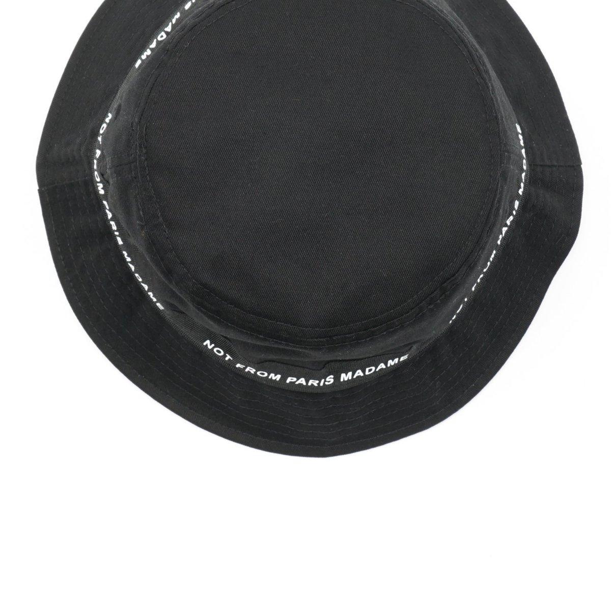 c4b4045ba942b Drôle de Monsieur NFPM BUCKET HAT - BLACK
