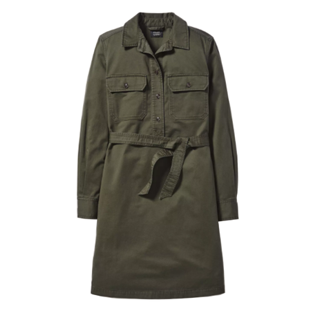 Filson Colville Long-Sleeve Shirt Dress - Olive