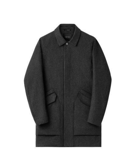 Wings+Horns Merino Mac Coat - medium black