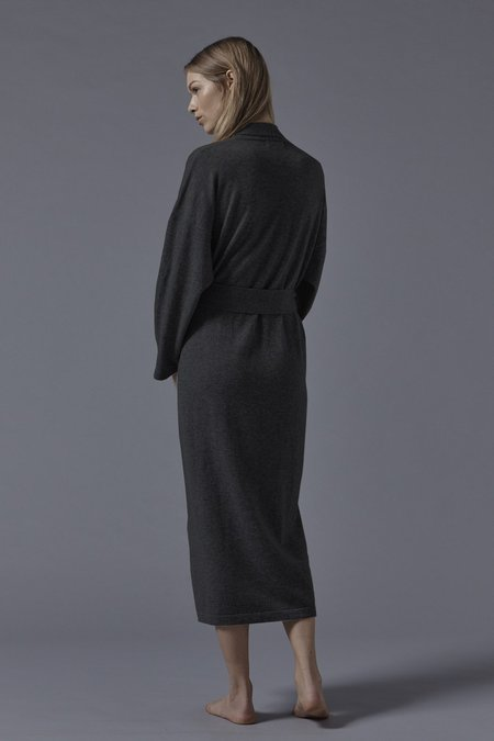 Oyuna Legere Cashmere Dressing Gown - Charcoal