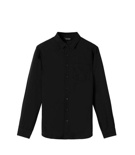 Wings+Horns Woven Officer Shirt - Black