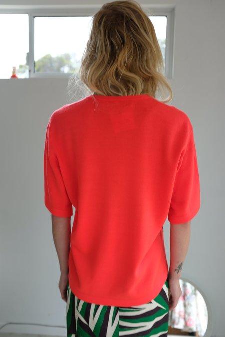 A Détacher Kirk Pullover - charcoal/red fluo