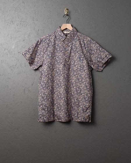 3sixteen SS Popover Shirt - Tan Floral