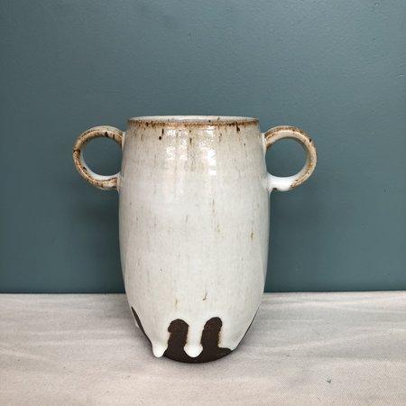 Celia Wiley Black Mountain Drippy Vase with Handles