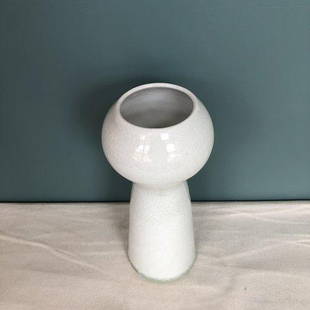 Celia Wiley Porcelain Tall Composite Vase - white
