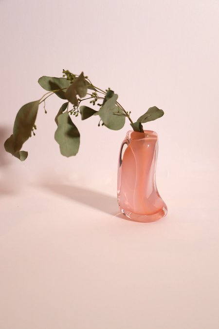 Bale Fire Glass Tall Suspension Vase - Flamingo