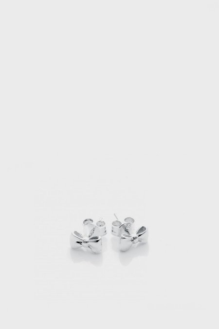 STOLEN GIRLFRIENDS CLUB Baby Bow Earrings  - Silver