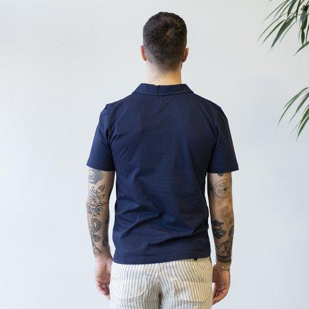 Merz b. Schwanen PLP01 Polo Shirt - Deep Blue