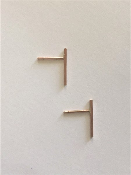Rachel Gunnard Lines Earrings - Rose gold