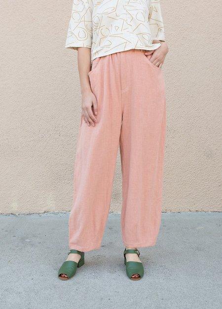 L.F.Markey Fat Boys Linen Trouser - dusty pink