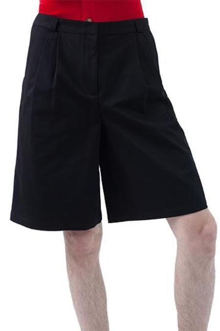 Occhii Pleat Shorts - Black