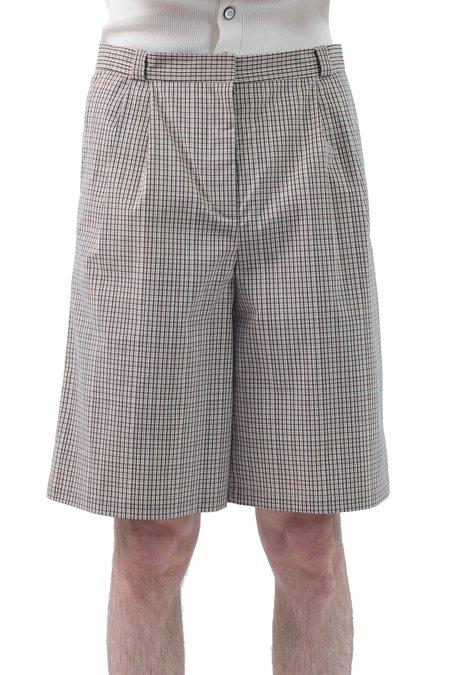 Occhii Pleat Shorts - Microcheck