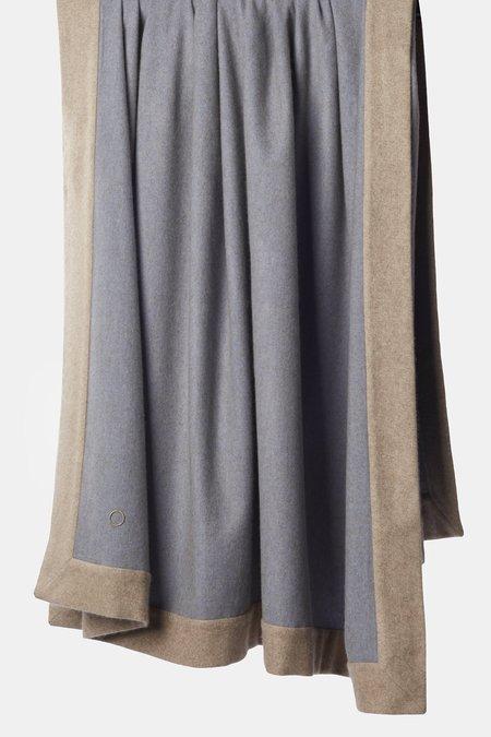 Oyuna Etra Cashmere Throw - Blue Taupe/Melange Taupe