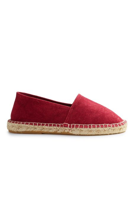 Lisa B. cotton pique classic espadrille - red