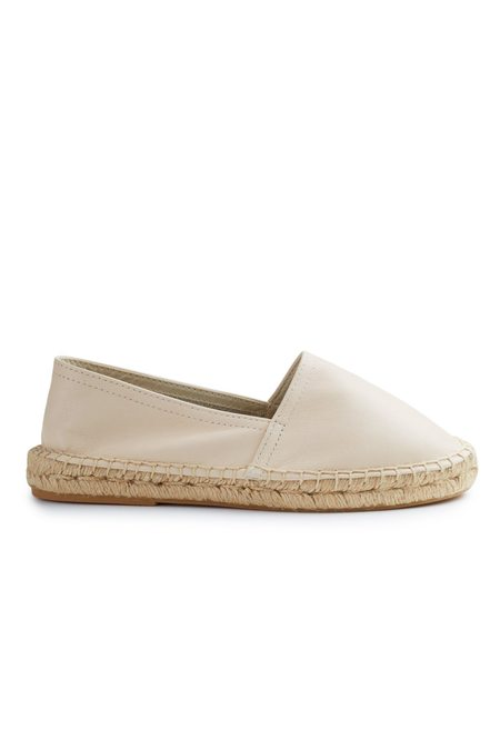 Lisa B. leather classic espadrille - OFF WHITE