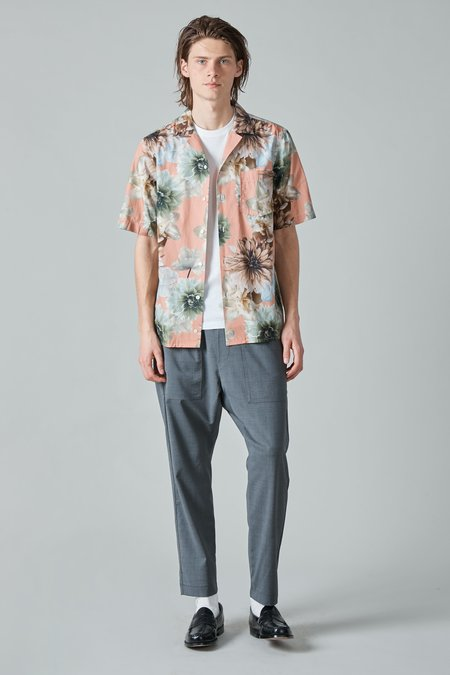 Presidents Poplin Rangi Shirt - Rose/Flower Print