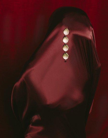 PAR ICI Leaf Drop Earrings