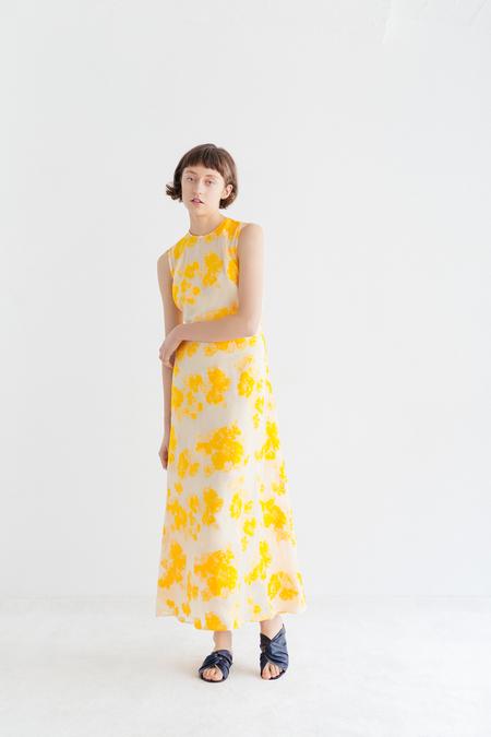 Samuji Adrielle Dress in Amianto - Yellow