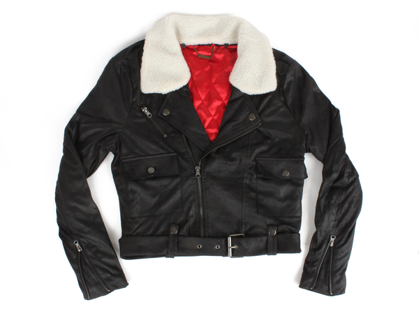 Shearling Collar Moto Jacket