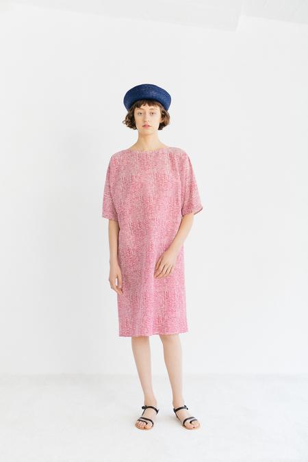 Samuji Neisa Dress in Tuuli - Ecru/Red