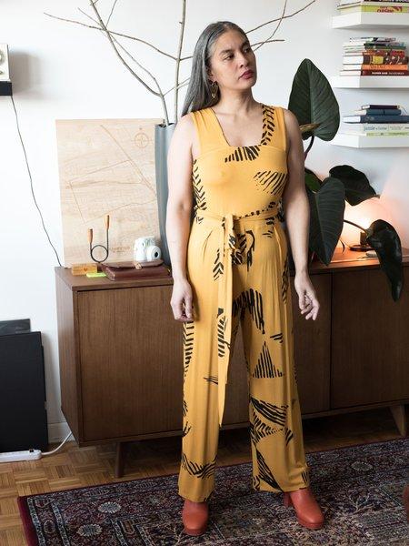 Dagg & Stacey Ottilie Wrap Jumpsuit - Golden