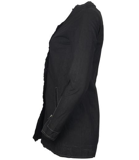 Anika Lenaskarstrom Linen Coat - Black
