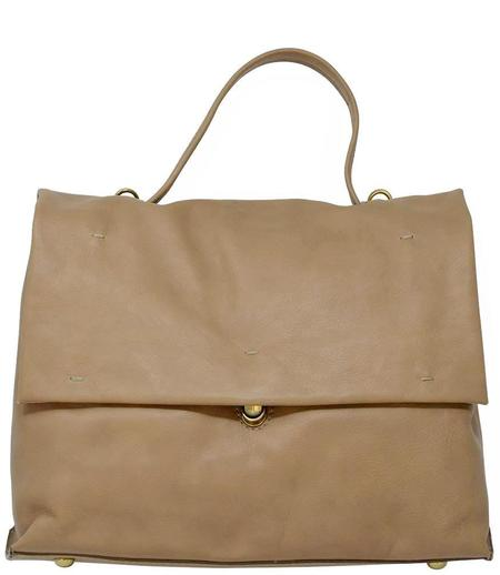 Campomaggi Leather Briefcase Bag - Beige