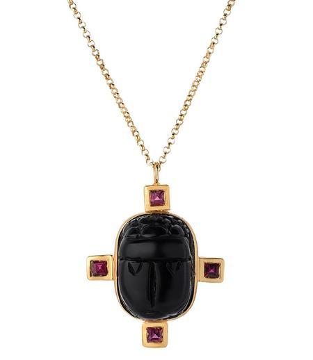 Indigo Unveiled Black Heart Necklace - 14k Gold