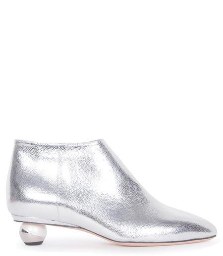 ALCHIMIA DI BALLIN Metallic Leather Nix Ankle Bootie - Silver