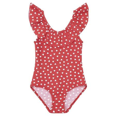 KIDS Bonton Amore Swimsuit - Red/White Hearts