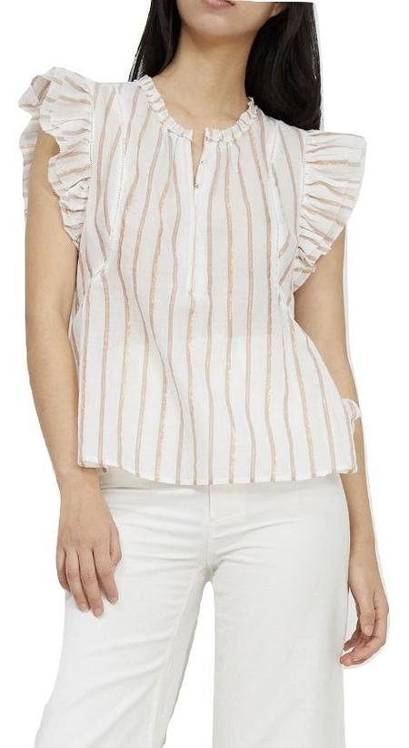 Apiece Apart Maria Del Mar Top - Cream