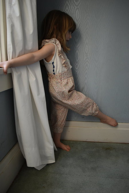 KIDS Devon's Drawer suspender pants - Rose
