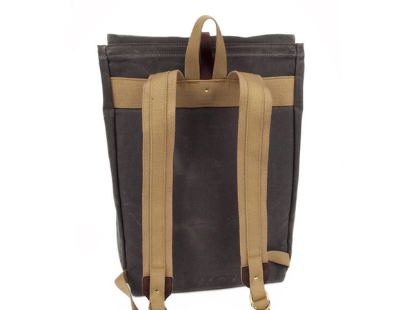 Unisex Waxed Canvas Rucksack
