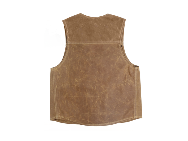 Men's Red Clouds Waxed Canvas Vest