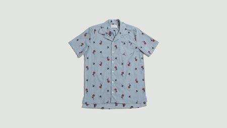 Libertine Libertine Cave Short Sleeve Shirt - Blue Pin Mushroom