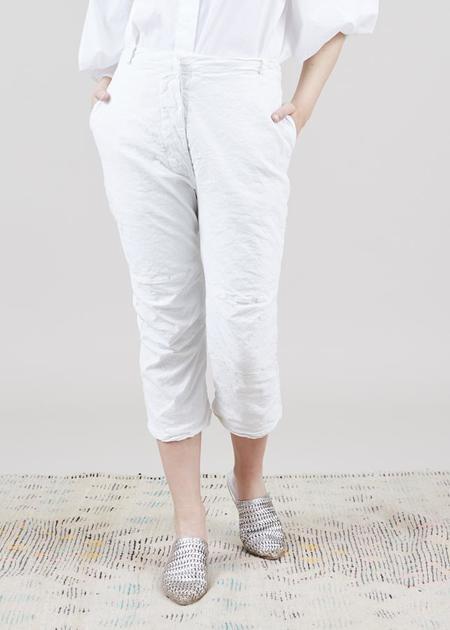 Aequamente Button-Fly Easy Pant - Milk White